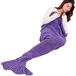 Purple Mermaid Blanket